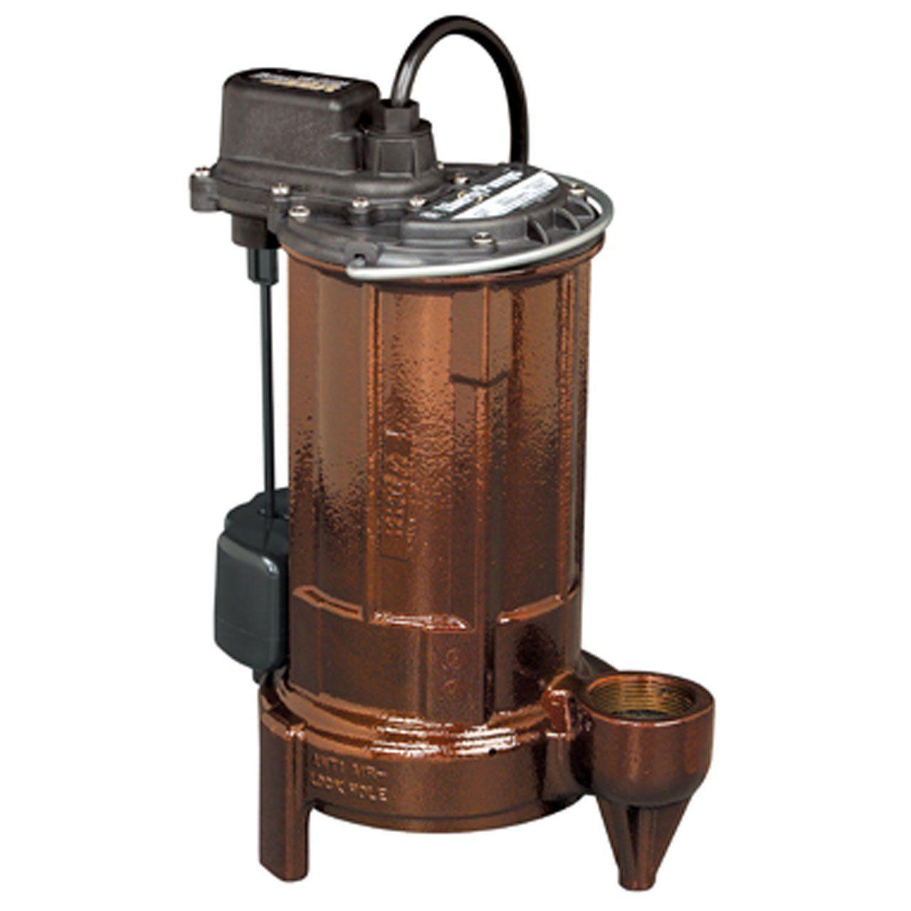 Liberty Pumps 287 2 Vertical Magnetic Float 1 2 Hp Mid Range Head Submersible Sump Effluent Pump With Series Plug Effluent Pump Submersible Sump Pump Sump Pump