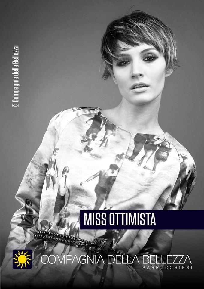 Encuentra el coraje de cambiar a un pixie bob y conviértete en Miss Ottimista. ¡En salones Compagnia della Bellezza!