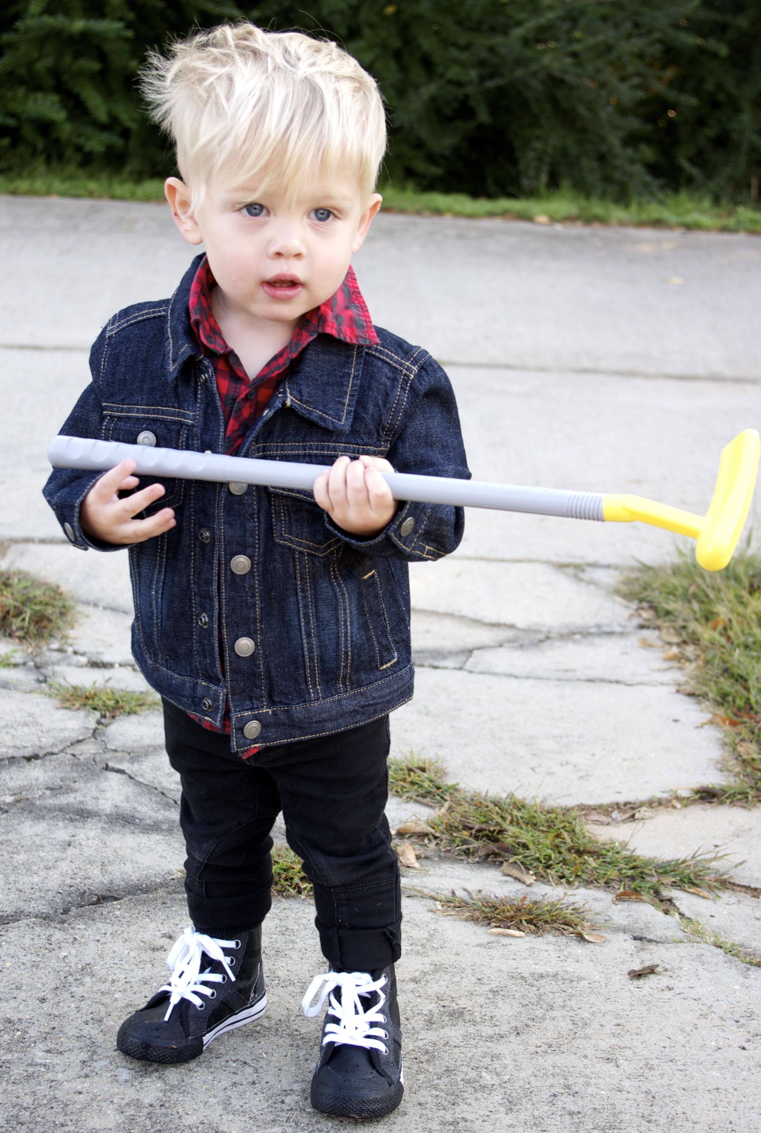 Plaid Button Down Denim Jacket Black Jeans High Top Sneakers Toddler Boy Outfits Little Boy Outfits Boy Outfits [ 3907 x 2624 Pixel ]