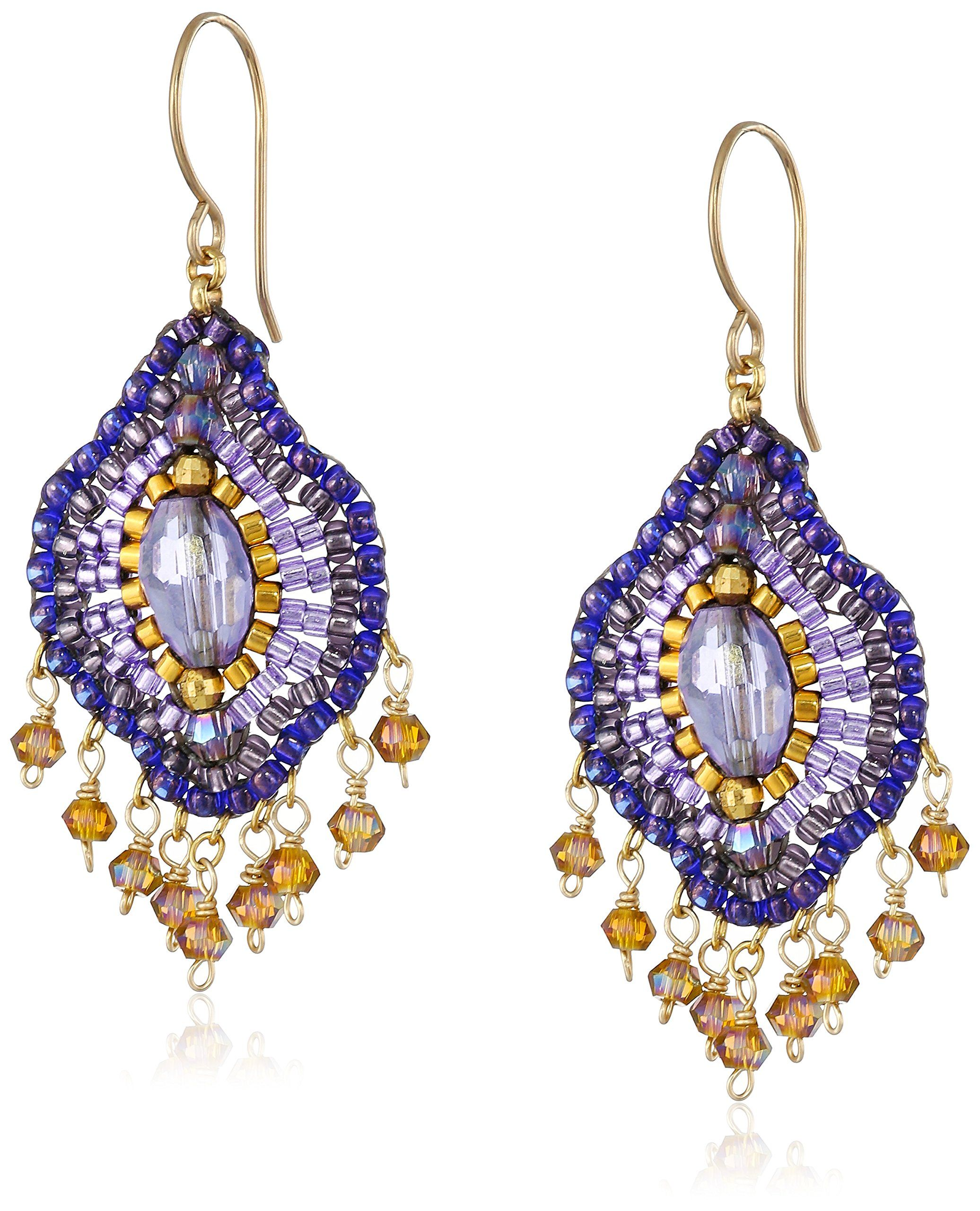 f1814078f5734 Amazon.com: Miguel Ases Violet Lotus Multi-Drop Earrings: Jewelry ...