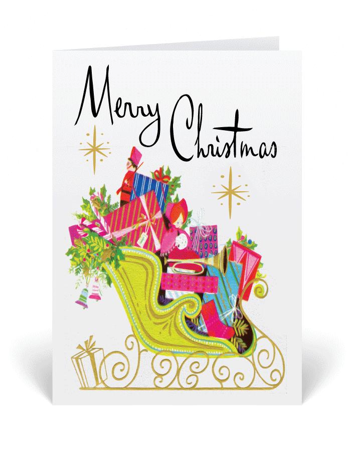 Retro 1950\'s Vintage Christmas Cards, retro modern Christmas ...