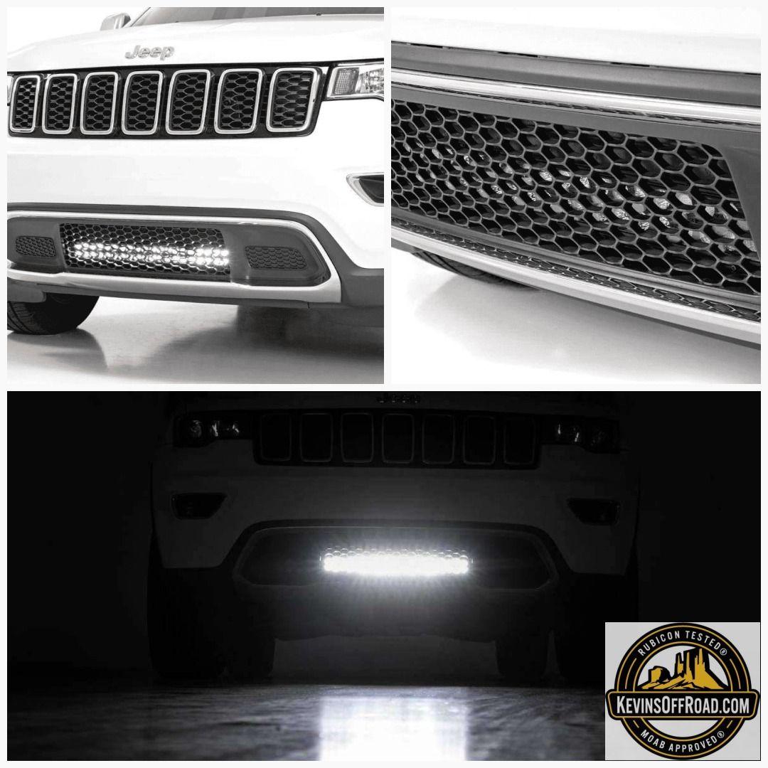 Wk2 Grand Cherokee 20 Hidden Led Bumper Kit Dual Light Bar White Amber Leds Con Imagenes