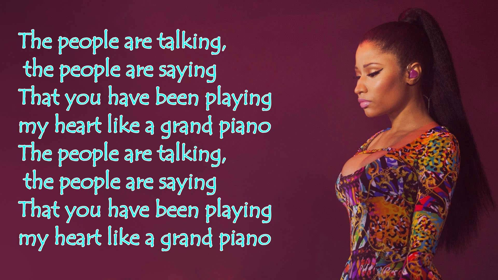Nicki Minaj Grand Piano Lyrics Nicki Minaj Lyrics Nicki Minaj More Lyrics