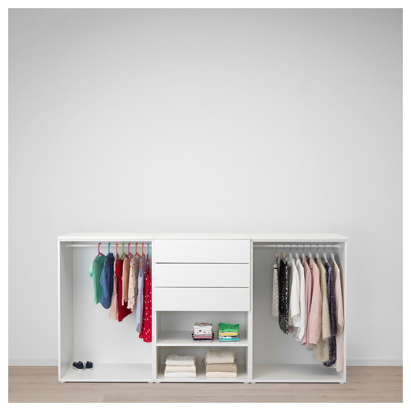 Kleiderstã¤Nder Schlafzimmer | Platsa Kleiderschrank Weiss Fonnes Sannidal Haus Kleiderschrank