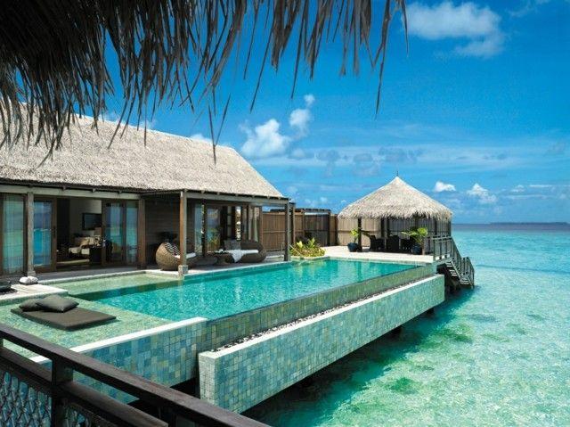 99 jardins et terrasses avec piscines de design moderne Maldives - photo d amenagement piscine