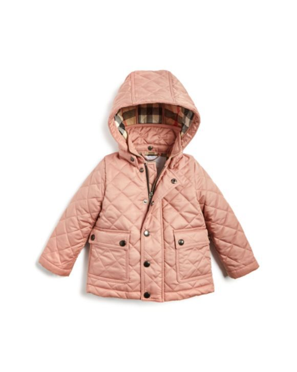 Burberry Girls Jamie Quilted Jacket Baby Kids Bloomingdale S Quilted Jacket Girls Jacket Dresses With Leggings