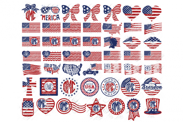 American Flag SVG Bundle By OhMyCuttables American flag