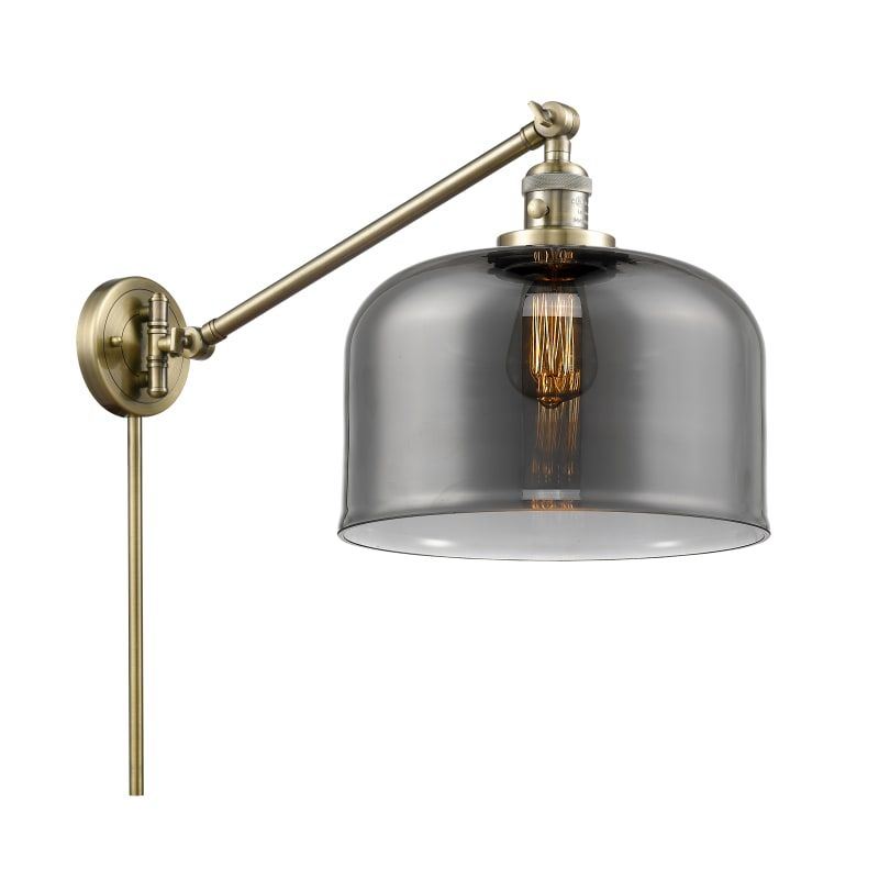 "Photo of Innovations Lighting 237 X-Large Bell X-Large Bell Single Light 13 ""Tall Bathroo Antique Brass / Smoked Indoor Lighting Bathroom Fixtures Bathroom"