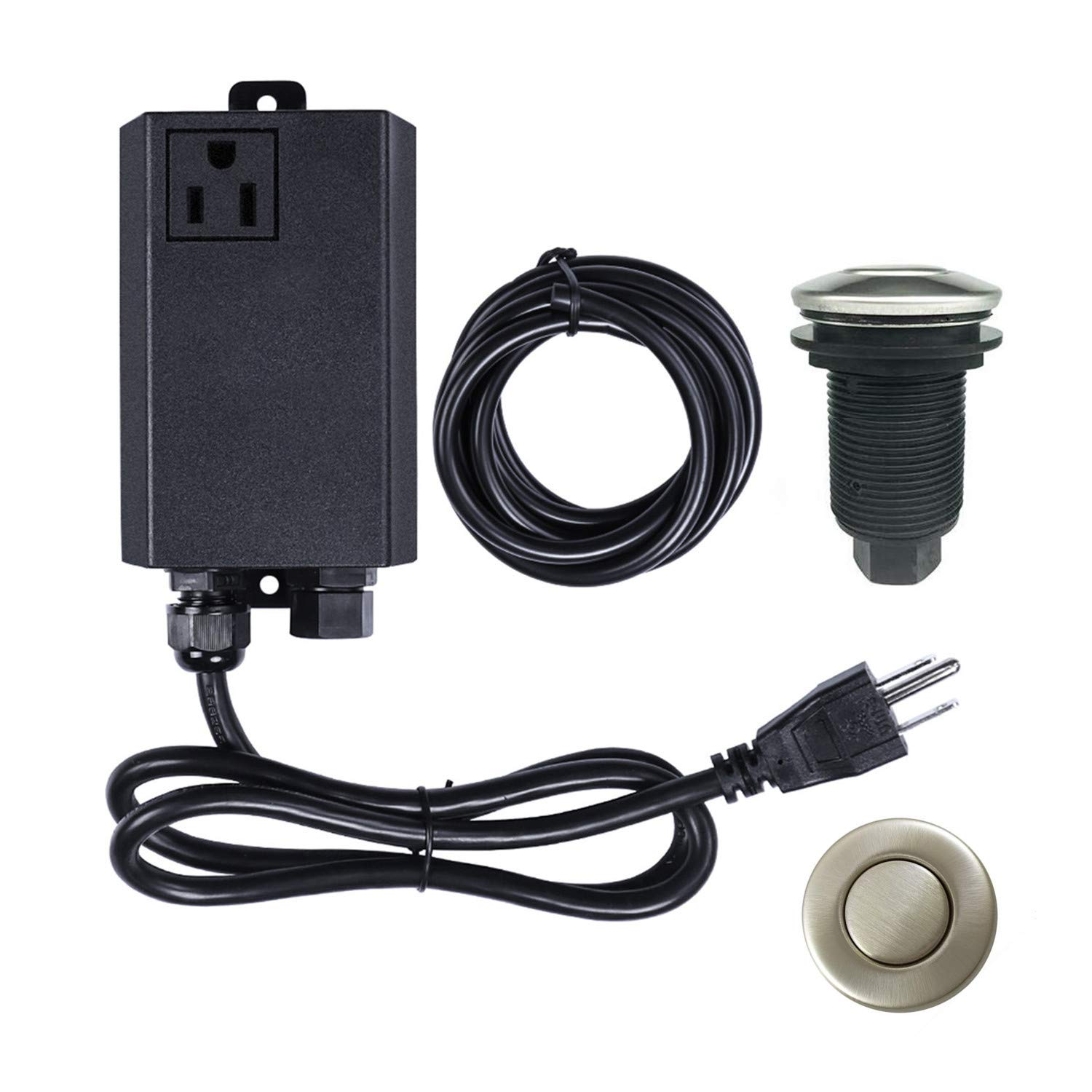 Garbage Disposal Air Switch Kit Sink Top Waste Disposal Stainless Steel On Off Air Button Food And Waste Disposals Part By Et Garbage Disposal Garbage Sink Top