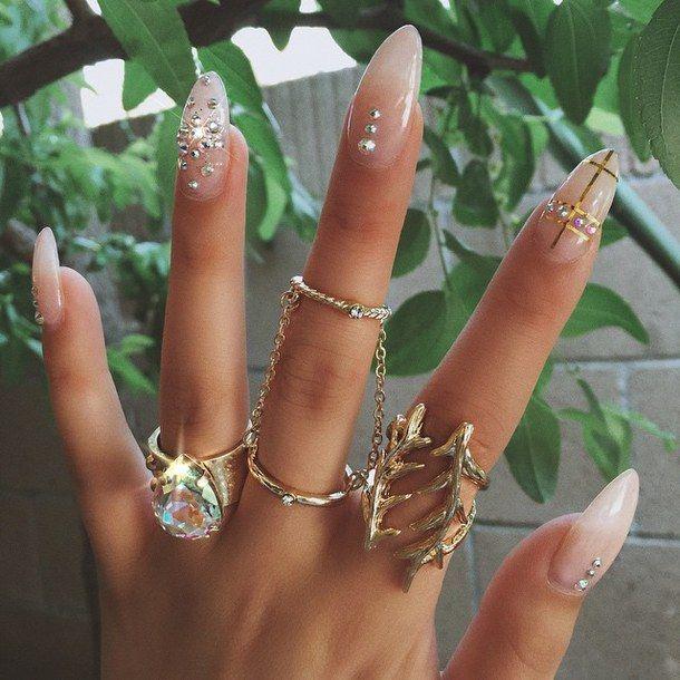 Accessories Diamond Dope Fashion Y Gold Nails