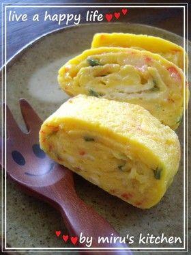 子供喜ぶ カニカマヨの卵焼き ゚ by miru姉さん レシピ 卵焼き レシピ 子供 喜ぶ