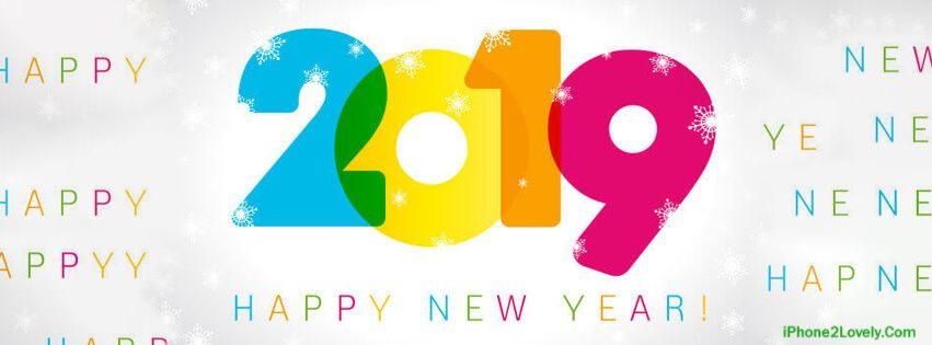 Amazing New Year 2019 Facebook Cover Rainbow Color Happy New Year Images Banner Design Facebook Timeline Covers