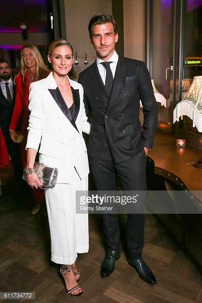 Olivia Palermo and Johannes Huebl at the Tommy Hilfiger Dinner in celebration of the 12th Zurich Film Festival on September 30 2016 in Zurich...