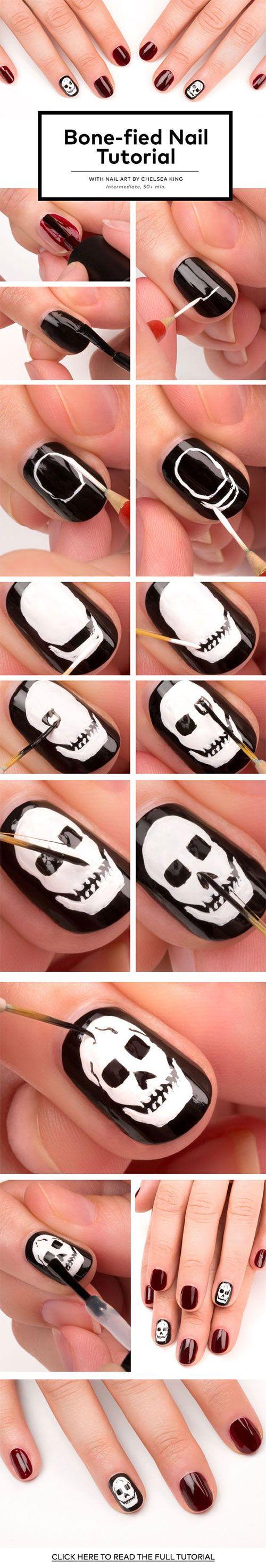 18 Einfache Schritt Für Schritt Halloween Nägel Kunst Tutorials Für ...