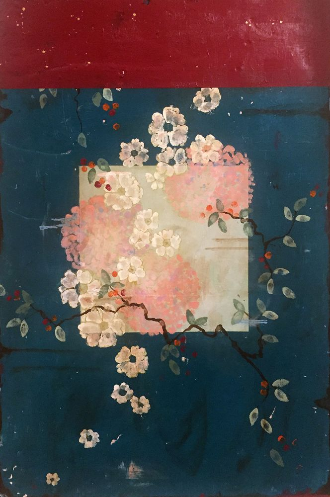 Kathe Fraga Art, www.kathefraga.com Kathe's paintings are inspired by the romance of vintage French wallpapers and Chinoiserie with a modern twist.