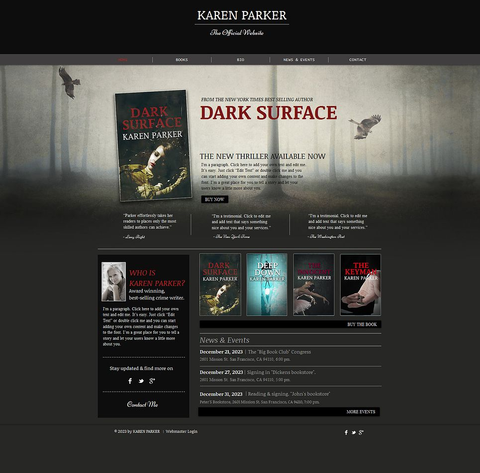 Personal Page Wix Website Template #47287