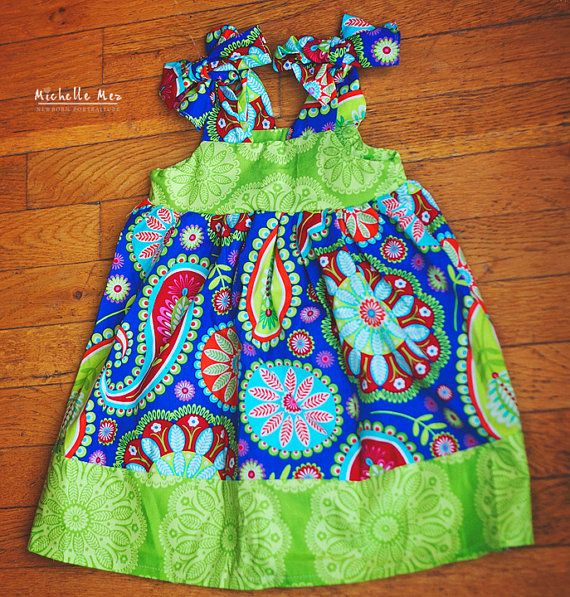 Girls dress baby dress kids clothes childrens by BackPorchKids, $39.00