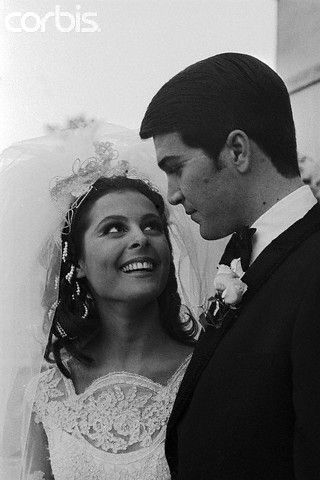 paul peterson and brenda benet in wedding portrait196770