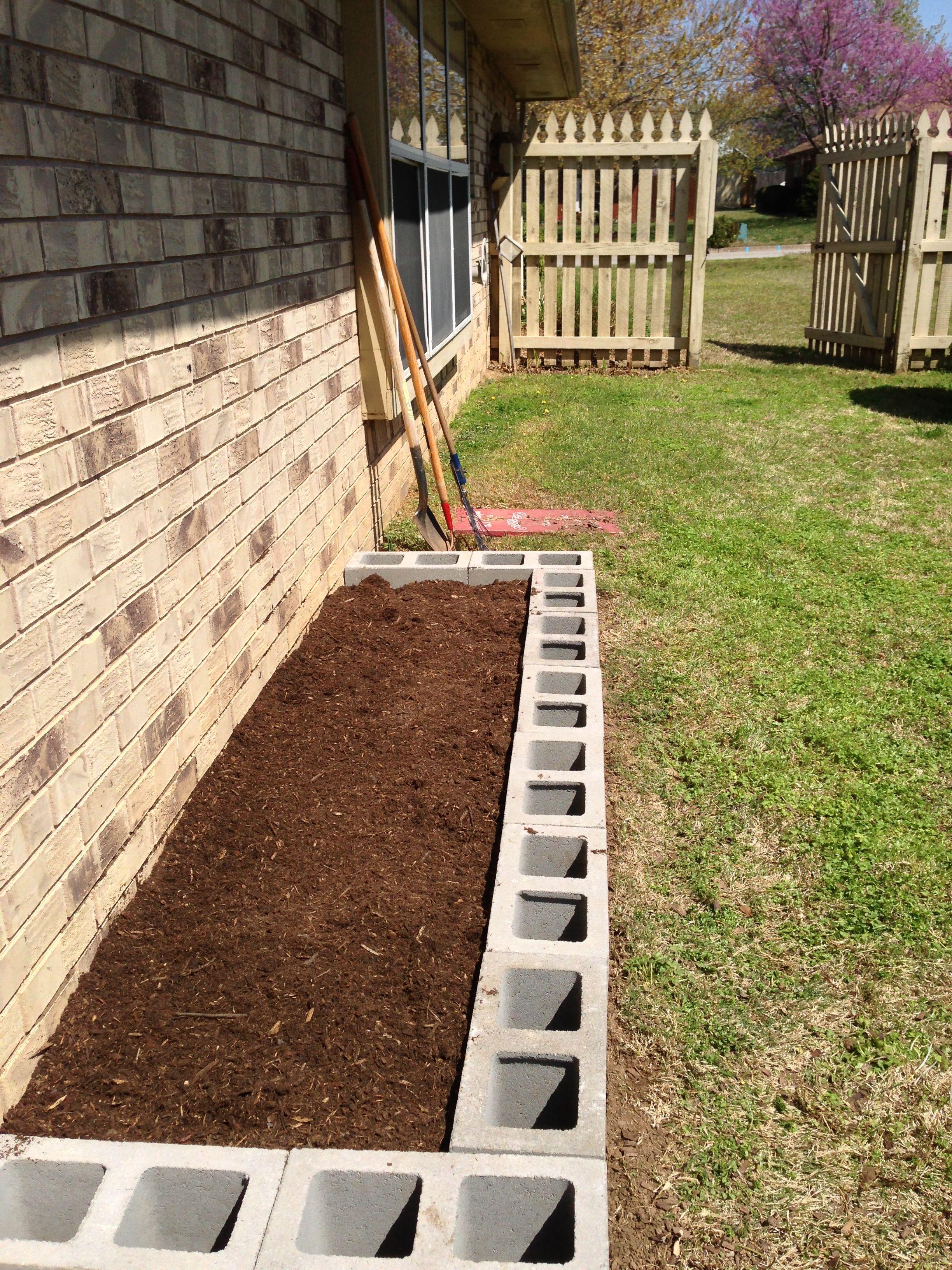 Raised Garden Bed from cinder blocks. | Gardening & Plants ...