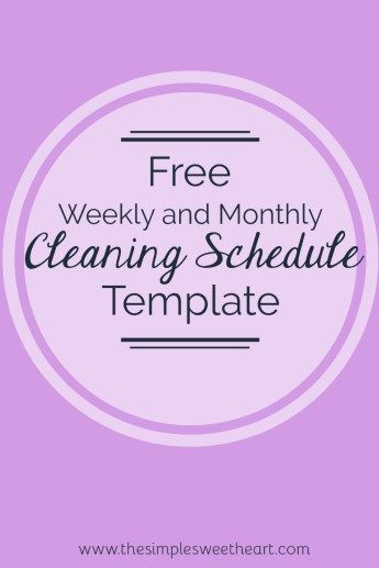 My 2017 New Yearu0027s Resolutions Free Cleaning Schedule Template - cleaning schedule template