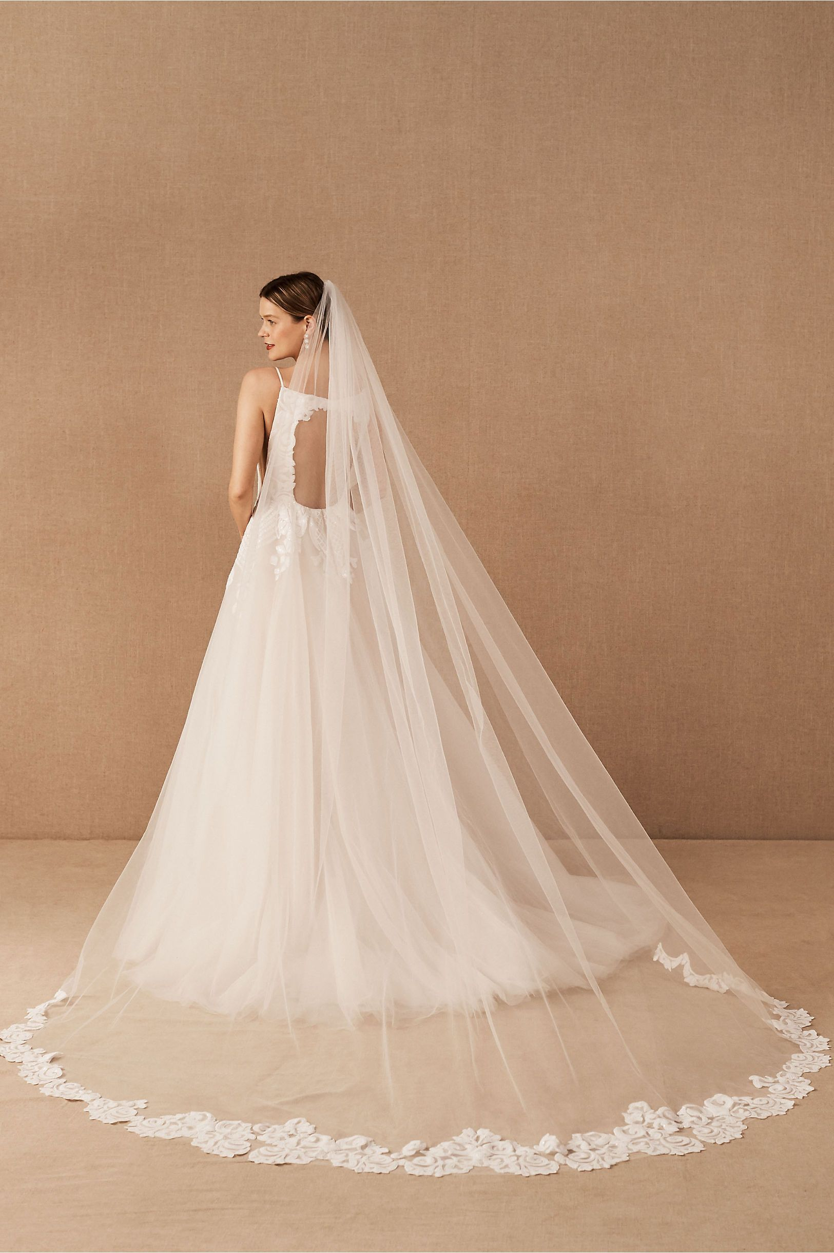 Dramatic Bridal Veil From Hayley Paige X Bhldn Long Veils Bridal Dream Wedding Ideas Dresses Bridal Veils And Headpieces [ 2440 x 1625 Pixel ]