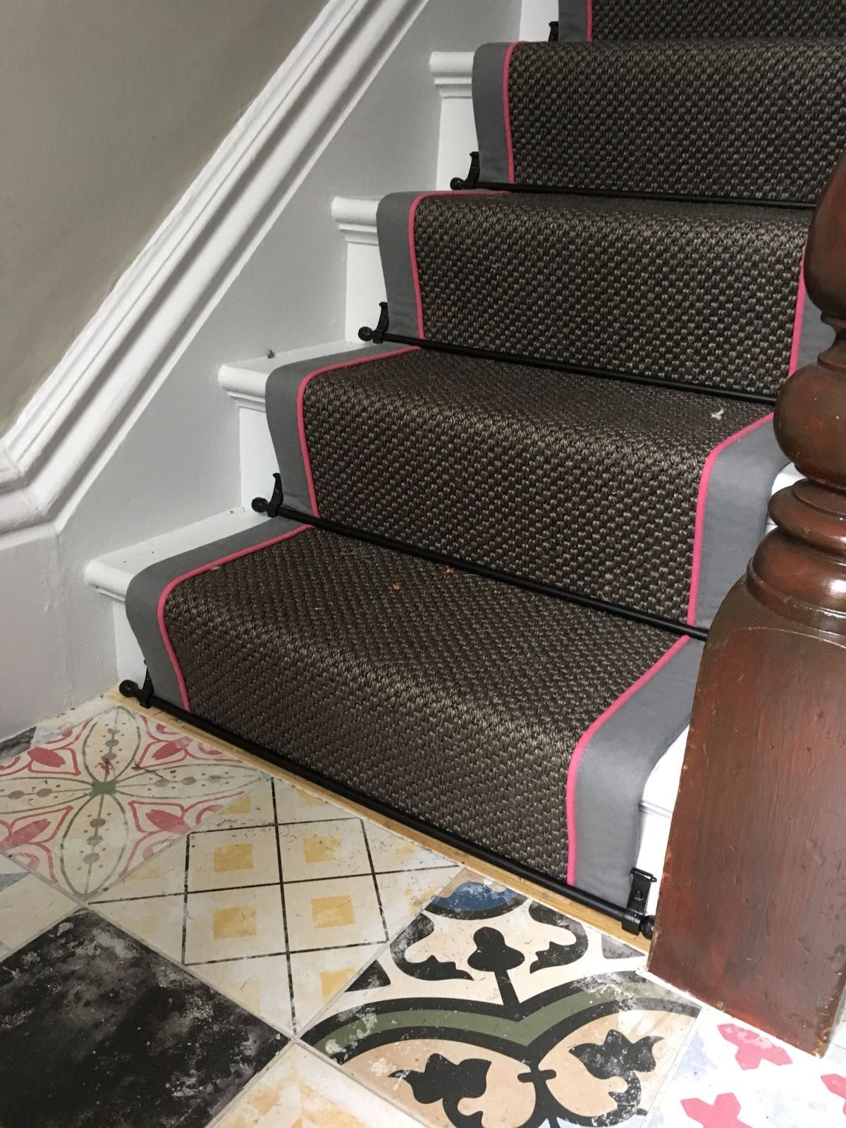 Carpet by Alternative Flooring, Stairrods by Stairrods UK