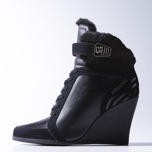 cost charm classic style multiple colors Adidas NEO Selena Gomez Winter Wedge Shoes | wardrobe ...