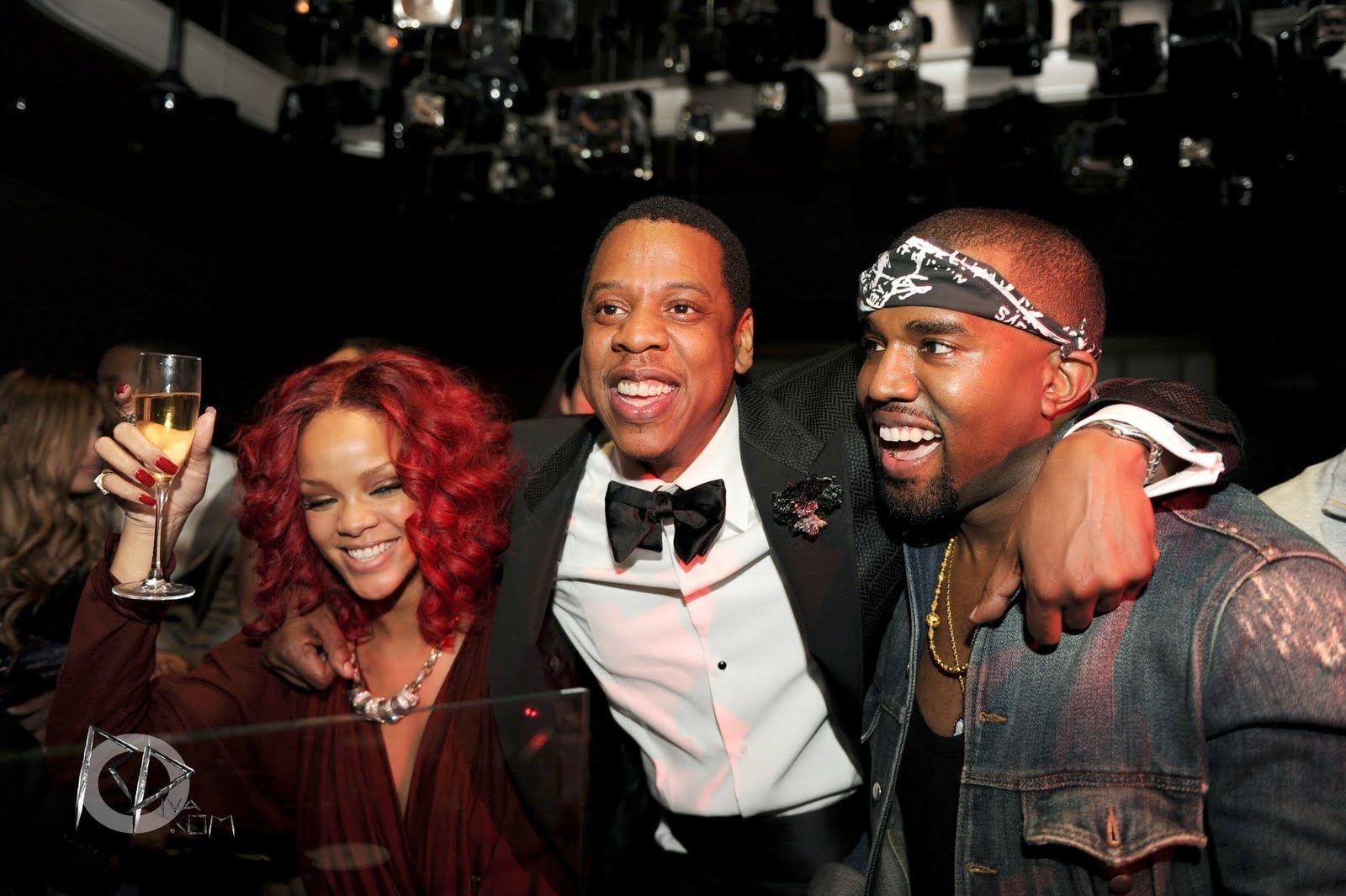 Rihanna Jay Z And Kanye West Celebrities Kanye West Jay Z Kanye West