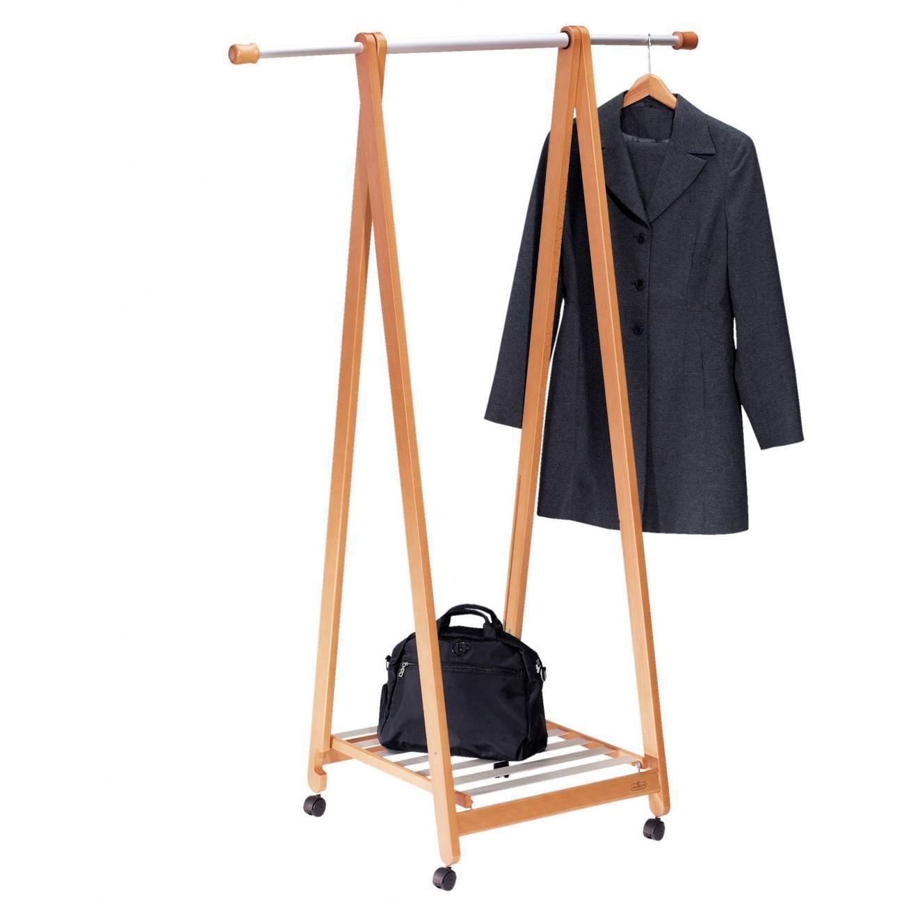 Mobile Garderobe Mit Ablage Buche 53 X 53 X 158 Cm Garderobe