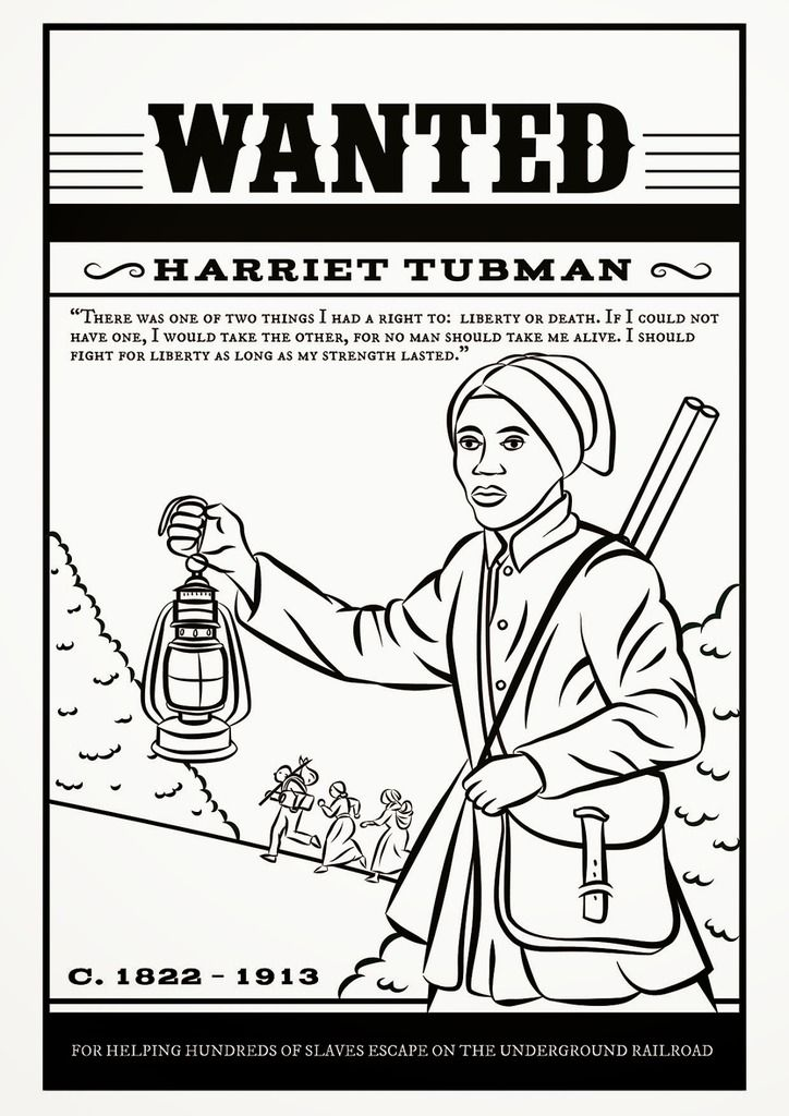 16 Fabulous Famous Women Coloring Pages For Kids Harriet Tubman