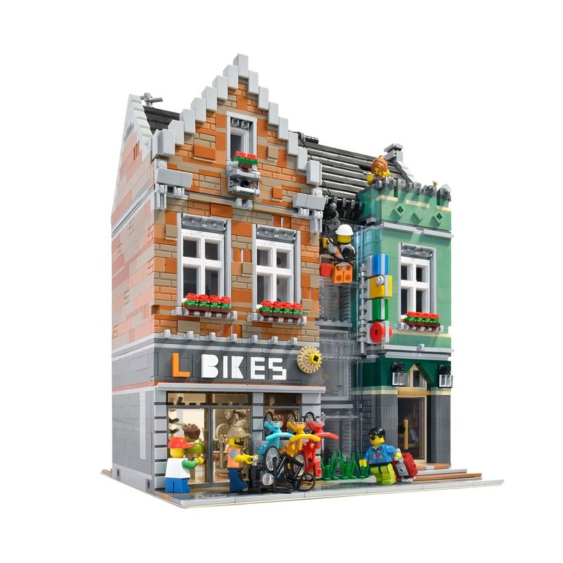 Lego Moc Moc 7286 Bike Shop Modular Building Instructions And