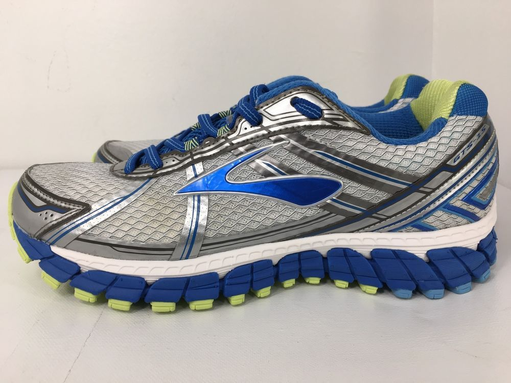 Brooks Adrenaline GTS 15 Silver Blue Running Sneakers