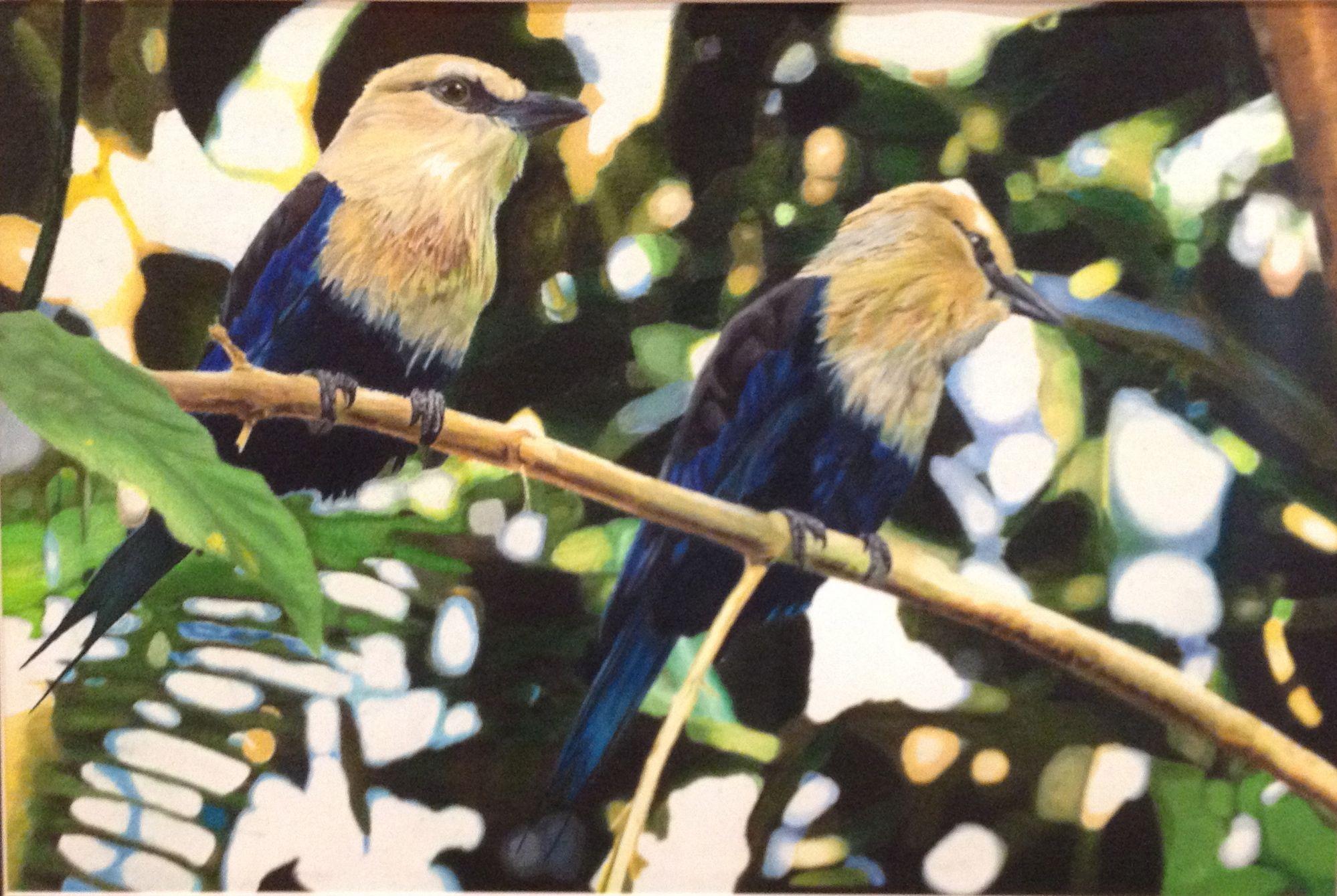 """Brother Birds"" by Israel Jimenzez from the Southmore Intermediate School art program. #ArtColony #HouArtFest"