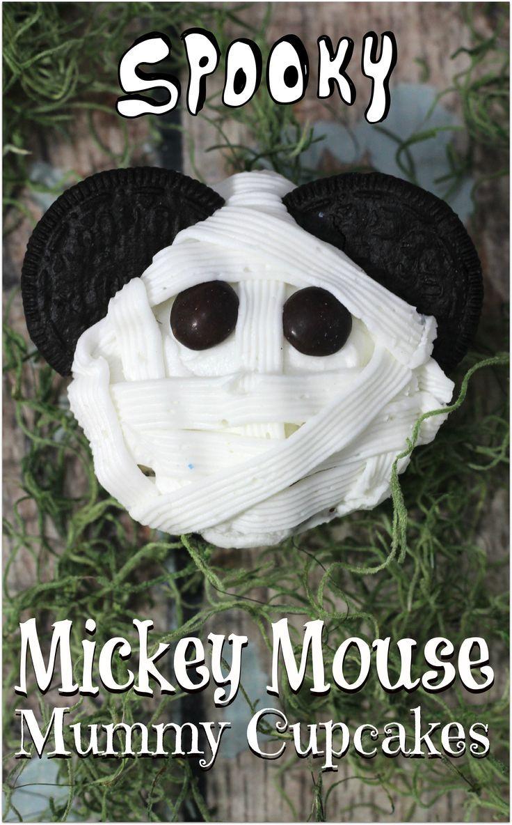Mickey Mouse Mummy Cupcakes | Halloween theme parties, Halloween ...