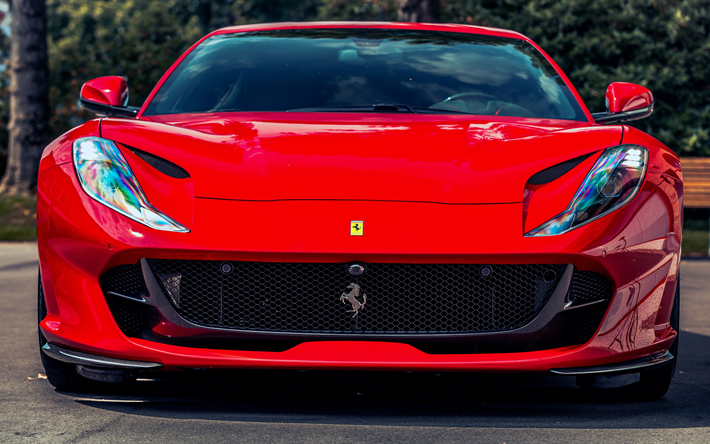 Descargar Fondos De Pantalla De Coches: Descargar Fondos De Pantalla 4k, Ferrari 812 Superfast De