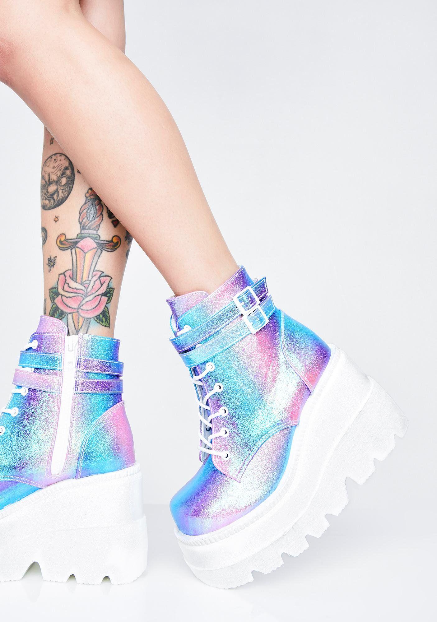 Kawaii shoes, Shoes, Platform boots