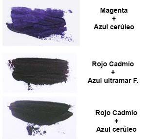 Mezclas violeta oleo cuaderno de dibujo tecnicas de - Mezcla de colores para pintar ...