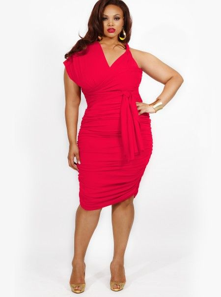 Monif C - Marilyn Ruched Convertible Dress - Hot Coral