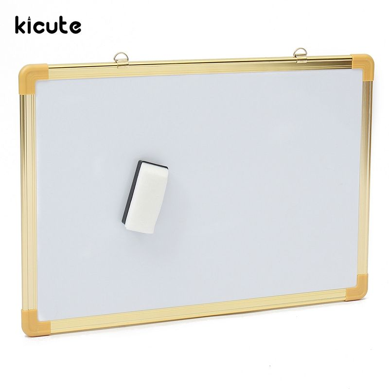 Kicute Notice Memo Board Double Side Writing Whiteboard Dry Erase