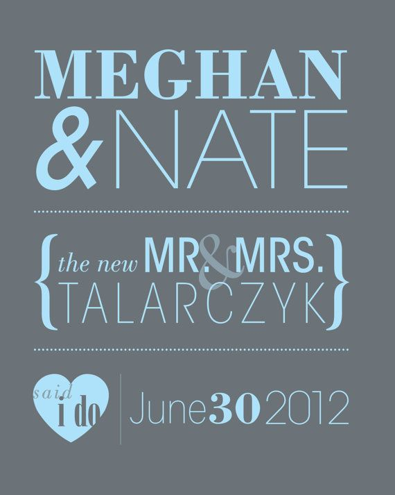 Personalized Wedding Print by MorganMarieMakes on Etsy, $15.00