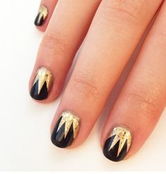 Nail styles in 1920s google search 1920s pinterest 1920s diy art deco nail art design for great gatsby parties instructions here prinsesfo Images