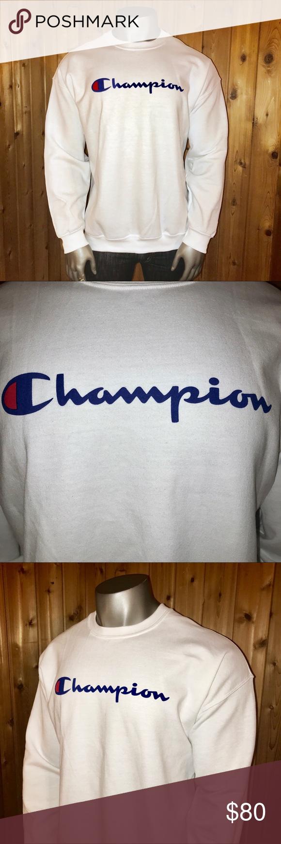 Nwt Champion Athletic Men S Xxl Sweatshirt Sweatshirts Branded Sweatshirts Champion Shirts [ 1740 x 580 Pixel ]