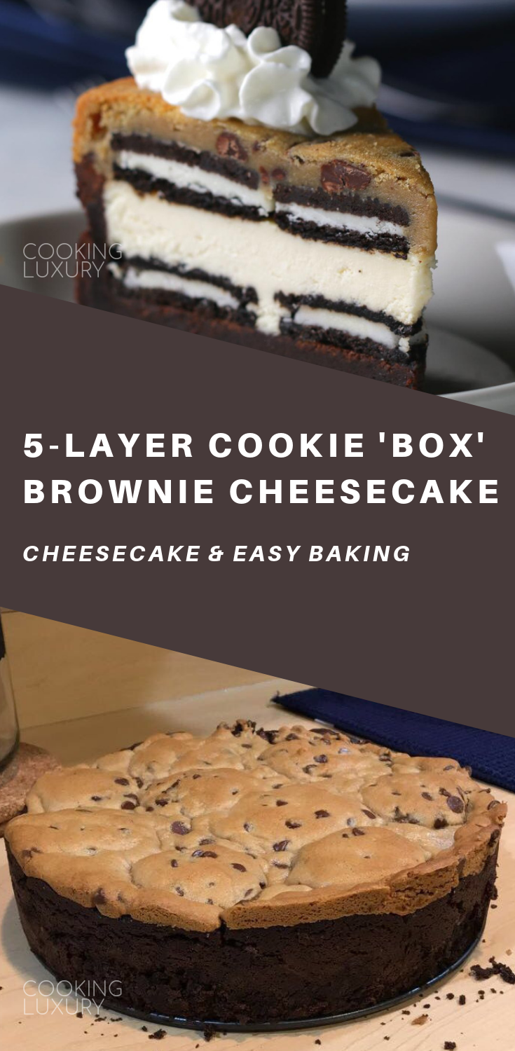 5 Layer Cookie Box Brownie Cheesecake Recipe With Images