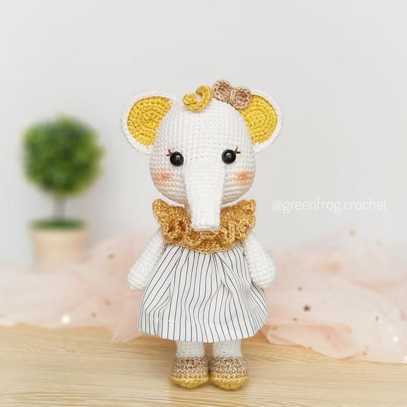 Amigurumi Elephant Pattern/ Crochet Elephant Pattern / Ellie the elephant crochet pattern #crochetelephantpattern