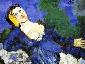 Frau in Blau