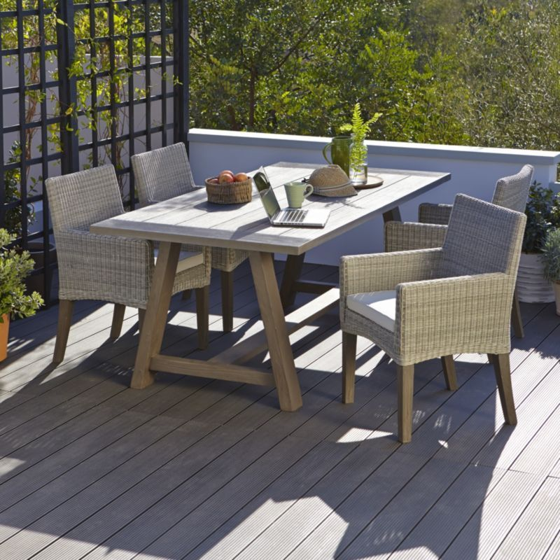 Blooma Garden Furniture 4 seater rattan garden table and chairs buy durable grey rattan blooma praslin rattan effect 4 seater dining set living room workwithnaturefo