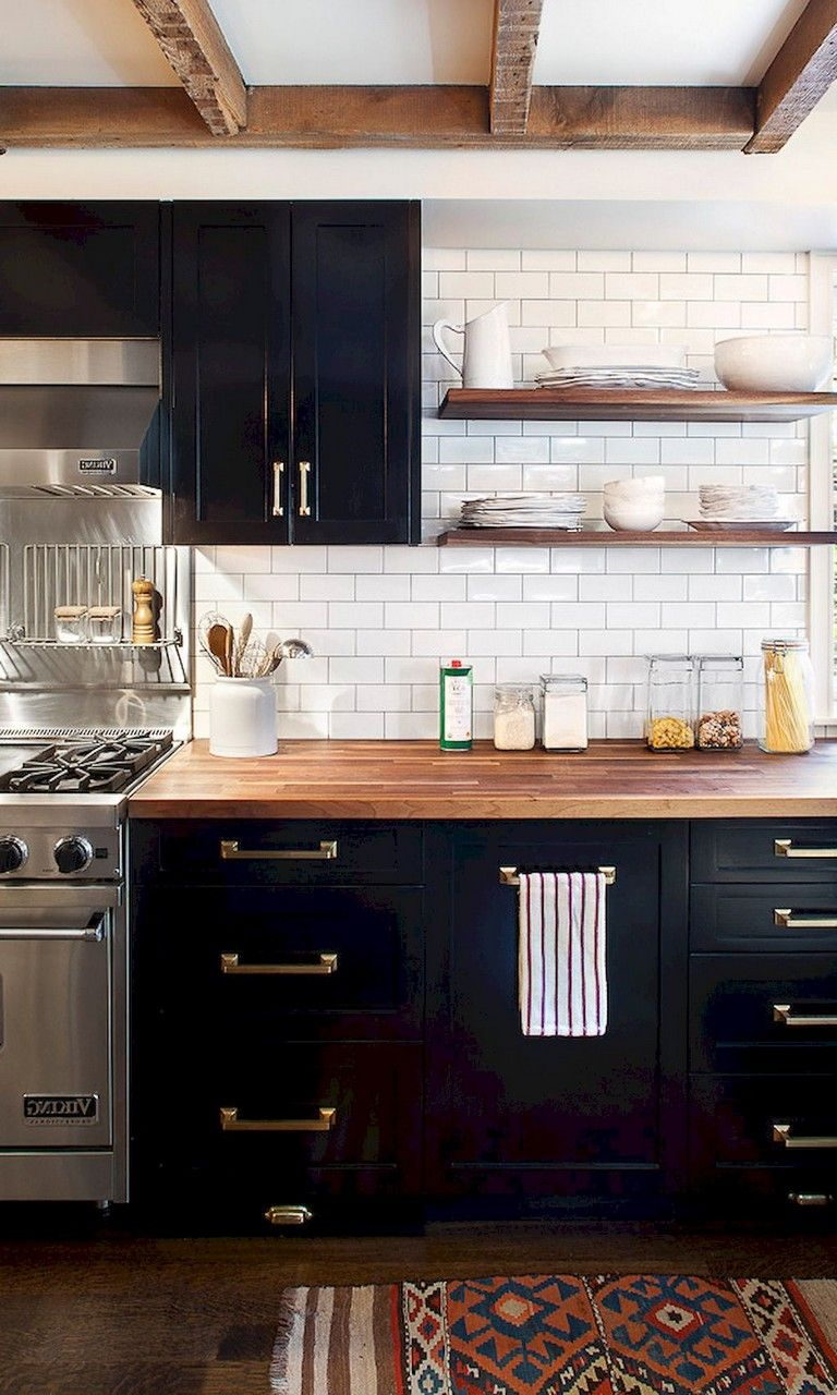 59 Marvelous Black Kitchen Cabinets Design Ideas
