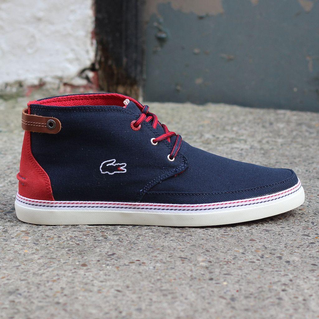 870fe51c31a0f Lacoste Clavel 16 Canvas Shoe (Dark Blue)  lacoste  clavel  newentry   footwear