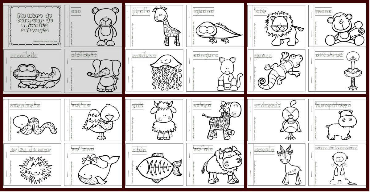 Mi Libro De Colorear De Animales Salvajes Libros De Animales Animales Salvajes Y Animales