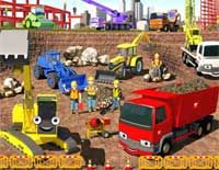 Construction building site wall mural from Resene ColorShops.